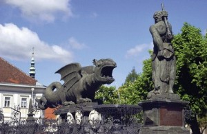 Klagenfurt la fontana del drago