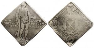 Klippe thaler 1678 (21,39 g) battuto per commemorare una gara di tiro a Dresda (ex asta Daniel Frank Sedwick 14)