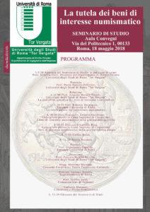 La tutela dei beni di interesse numismatico