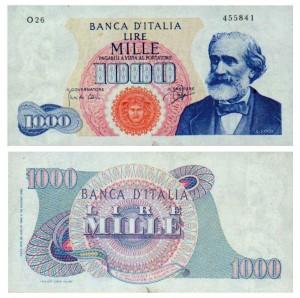 Lire 1.000 tipo 1962, Giuseppe Verdi