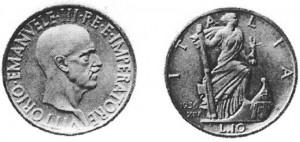 Lire 10, 1936, XIV argento