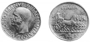 Lire 20, 1936, XIV argento