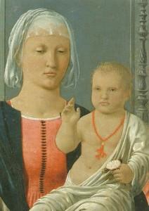 Madonna di Senigallia, particolare 1470 ca - Piero della Francesca