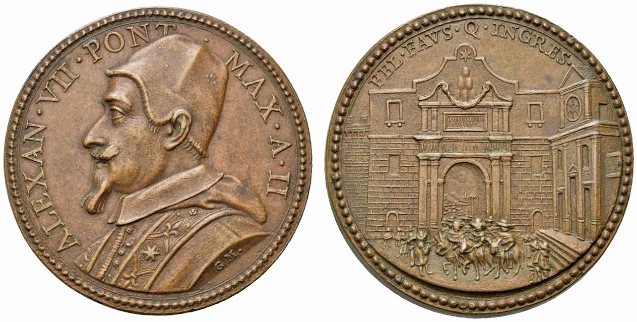 Alessandro VII, medaglia 1656