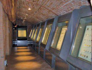 Una sala del Museo numismatico della Banca Agricola Mantovana