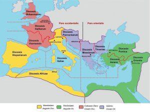 ordinamento della prima tetrarchia, 295-305 d.C.