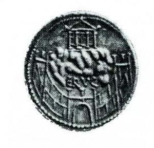 Denario con dettaglio del tempio di Venere