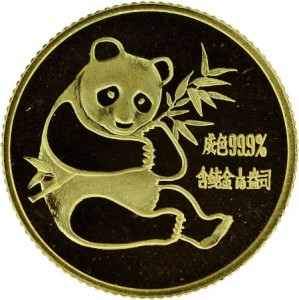 Panda 1982 in oro, 0.1 once