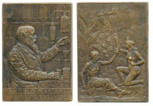 Placchetta in bronzo (37x52 mm) per Angelo Mariani di Mouchon (1905)