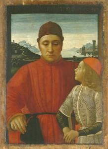 Ritratto di Francesco Sassetti col figlio Teodoro I 1487 ca - Domenico Ghirlandaio