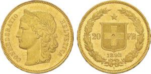 20 frs 1893 Gondo