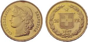 20 frs 1895 Gondo