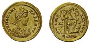 Solido Imperatore Romano Onorio