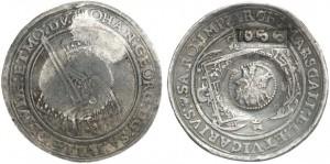 Tallero della Sassonia, contromarca con san Giorgio e il drago, zar Aleksej Michajlovic 1645-1676