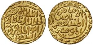 Tanka in oro (10,0 g) di Jalal al-din Firuz (1290-1296) (ex asta New York XXV)