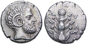 Tetradracma in argento V-IV secolo a.C. (13,25 g) Cyrene (ex asta Roma Numismatics Limited 2, 2.10.2011)