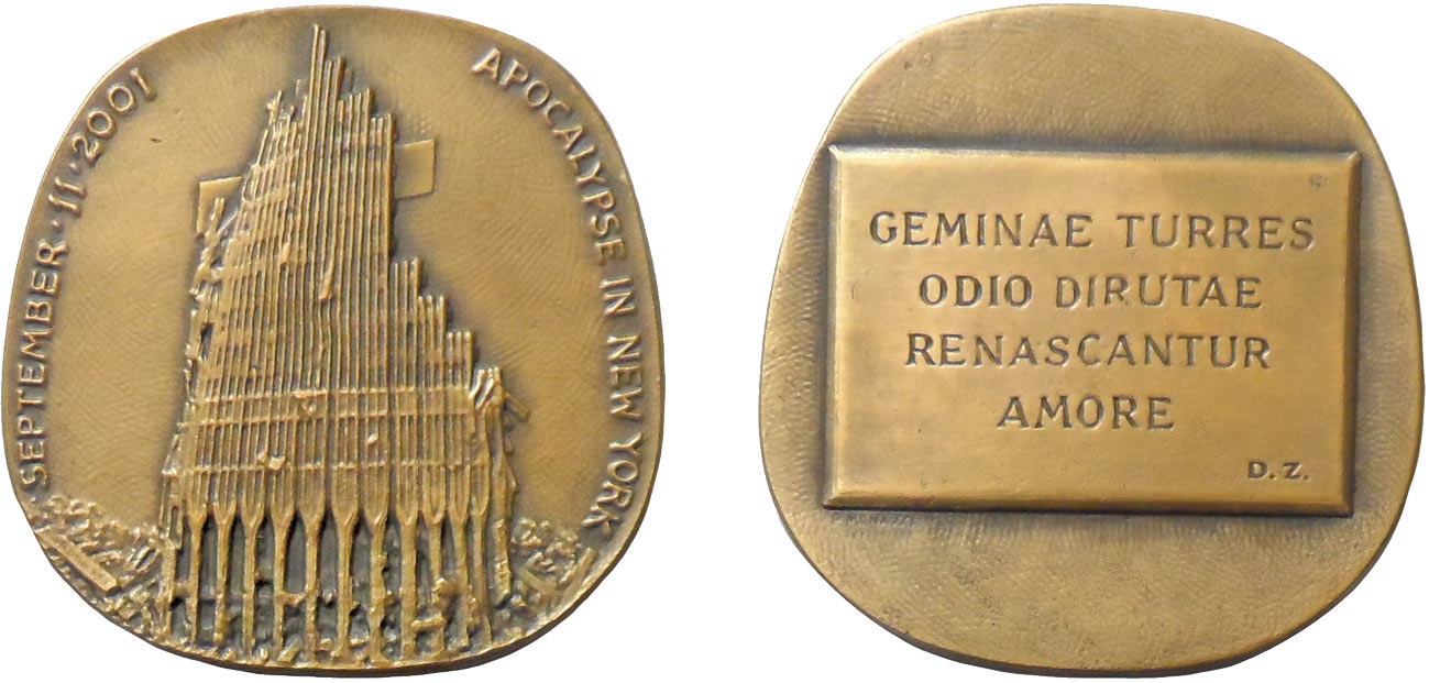 Medaglia MOnassi per 11 settembre torri gemelle
