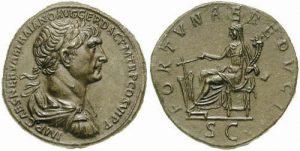 Traiano, al rovescio la Fortuna Augusti.