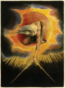 Urizen raffigurato da William Blake nell'acquaforte The Ancient of Days