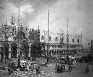 Piazza San Marco in un quadro del Canaletto.