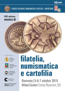 XXIV Mostra sociale di Numismatica e filatelia a Rovereto 2018