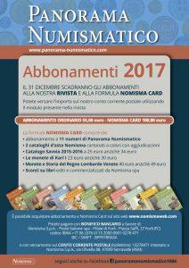 abbonamenti rivista numismatica