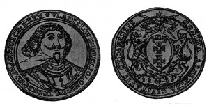 Fig.1 - Tallero del Re polacco Vladislao IV con data 1636 coniato a Danzica