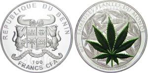 Benin - 100 francs alla marijuana
