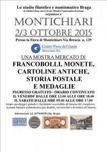 Convegno Filatelico Numismatico a Montichari, 2 e 3 ottobre