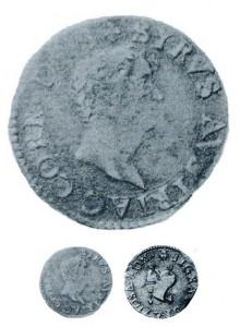 Presunto soldo di Sirio di Correggio. Se ne conoscono pochi esemplari che, almeno quelli censiti, provengono da una sola copia di coni.