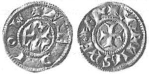 denaro in argento della zecca di Milano