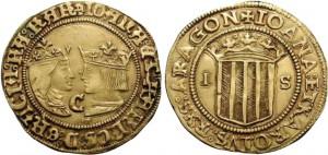Un doppio ducato della zecca di Saragozza