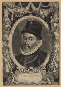 Filippo II in una stampa del 1630