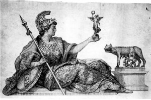 Bozzetto originale della personificazione di Roma elmata e con Vittoriola utilizzato per l'effigie al dritto del nuovo 100 lire