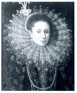 C'è chi ha proposto il nome della moglie di Siro, Anna Pelloni, per la donna raffigurata in questo dipinto eseguito da un ignoto pittore di scuola fiamminga. L'attribuzione è però dubbia.