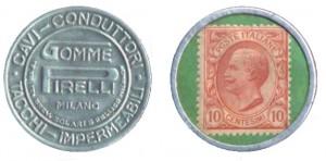 Francobollo Moneta Pirelli