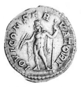 Giove su un bronzo Romano