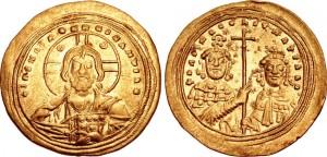 Impero bizantino, Basilio II (976-1025) con Costantino VIII, zecca di Costantinopoli, histamenon