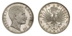 Lotto 493 -  il famoso 5 lire 1901
