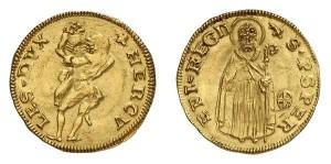 Lotto 619 - Reggio Emilia, Ercole I d'Este (1471-1505), ducato d'oro