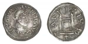 Lotto 744 - Treviso, Ludovico il Pio (814-840), denaro