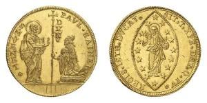 Lotto 801 - Venezia, Paolo Renier (1779-1789), Multiplo in oro da 20 zecchini