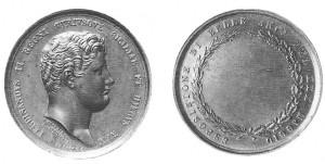 Medaglia premio, in bronzo