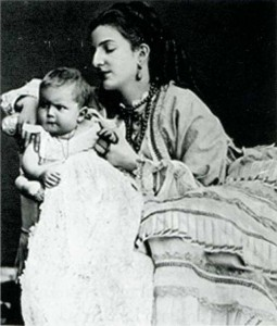 Margherita e Vittorio Emanuele in fasce.