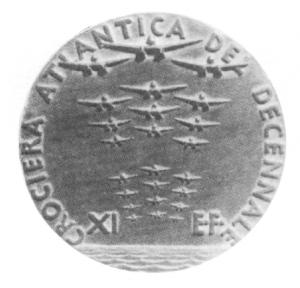 medaglia crociera atlantica del decennale