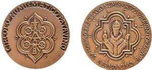 Medaglia coniata per il 50° anniversario di fondazione