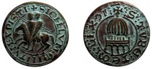 Sigillo bifacciale del Maestro dei Templari Renaud de Vichier