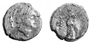Moneta mamertina con Ares al fronte