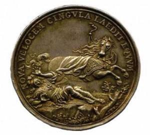 Medaglia d'argento 1707 in occasione dell'entrata dell'esercito austriaco a Napoli