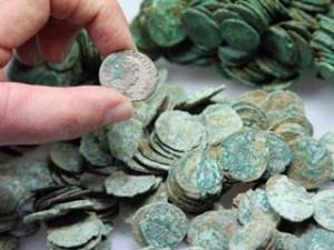 ritrovamento monete romane